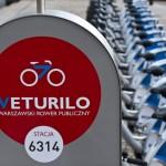 Nowy rekord wypożyczeń miejskich rowerów w Warszawie