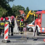 Koparka uszkodziła gazociąg w Alejach Jerozolimskich przy wyjeździe z Pruszkowa do Warszawy